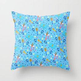 Sailor Mercury Pattern / Sailor Moon Throw Pillow