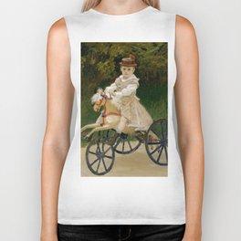 "Claude Monet ""Jean Monet (1867–1913) on His Hobby Horse"" Biker Tank"