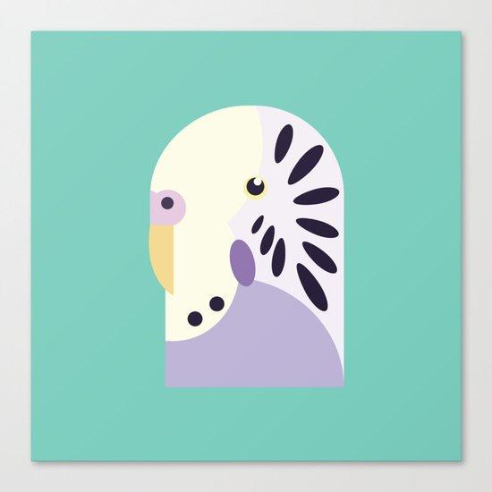 Budgerigar 3 Canvas Print
