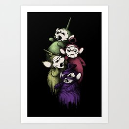 SCARYTUBBIES Art Print