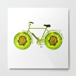 Kiwi Bike Metal Print