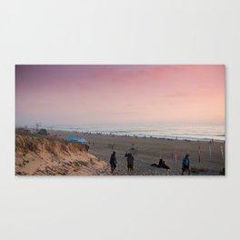 Beach in Hossegor, France, 2013 Canvas Print