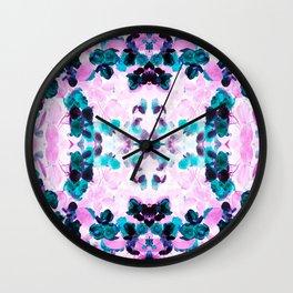 Negative Roses Print Wall Clock
