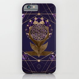 Flower of Life Lotus - Sacred Geometry Ornament iPhone Case