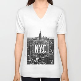 Empire State View / NYC  Unisex V-Neck