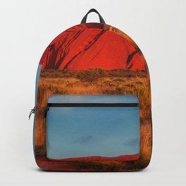 Australia Photography - The Uluru Sandstone In The Sunset Backpack