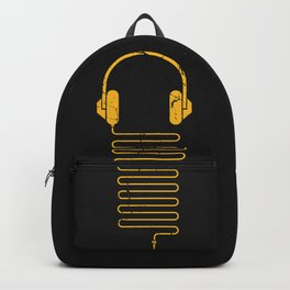 Gold Headphones Backpack