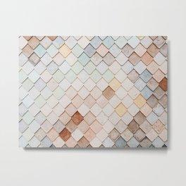 Something's Fishy: Pastel Scales Metal Print