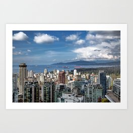 Aerial view at Downtown Vancouver Art Print