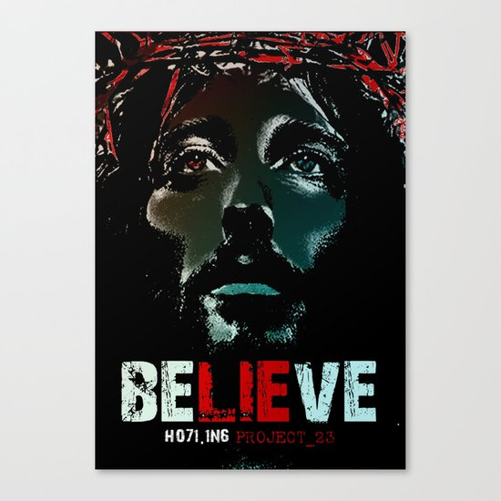 Believe Poster Canvas Print