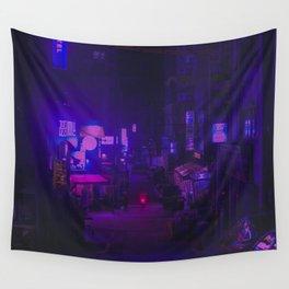 Vaporwave Vibes Alleyway Wall Tapestry