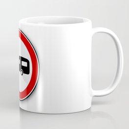 Caravan Road Traffic Sign Coffee Mug