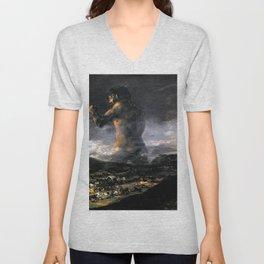 """Francisco Goya """"The Colossus"""" Unisex V-Neck"""