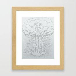 M.A.D. (gray) Framed Art Print