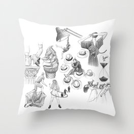 Ink Thoughts Seven Throw Pillow