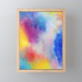 Abstract Watercolor Minimalist Rainbow - Fauve Framed Mini Art Print