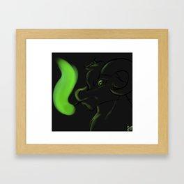 Frøyduhr, the Smokin' Goat Framed Art Print