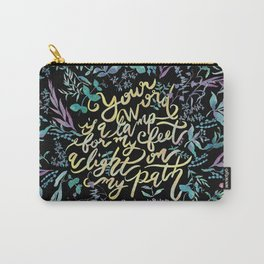 Your Word is a Lamp - Psalm 119:105 Carry-All Pouch