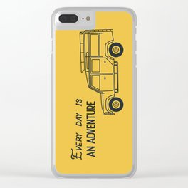 Every day is an adventure, land rover Clear iPhone Case