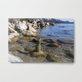 Pineapple Paradise Metal Print