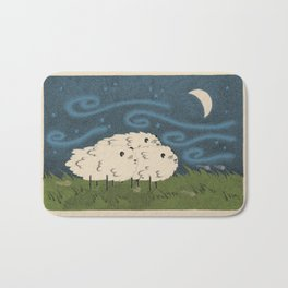 Three Sheeps to the Wind Bath Mat