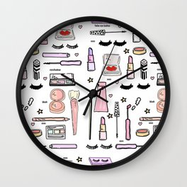 Makeup Love Wall Clock