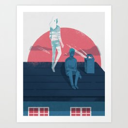 Ghost series 03 Art Print