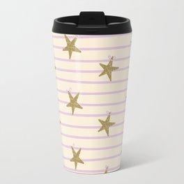 Pink Lines Travel Mug