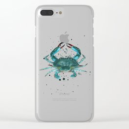 Pattern: Blue Crab Fest! ~ (Art Copyright 2013) Clear iPhone Case