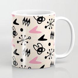 Mid Century Modern Atomic Boomerang Pattern Pink 103 Coffee Mug