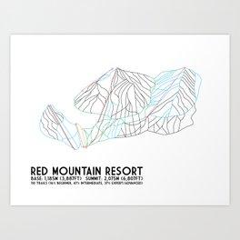 Red Mountain Resort, BC, Canada - Minimalist Trail Art Art Print
