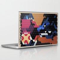 nightcrawler Laptop & iPad Skins featuring Geometric Nightcrawler by Head Glitch