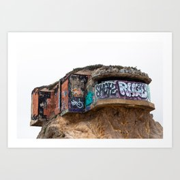fortified and graffiti bombed Art Print