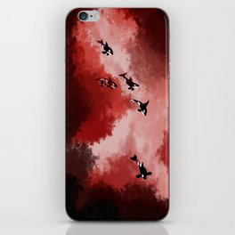 Red Space Orcas iPhone Skin