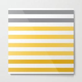 Stripes Gradient - Yellow Metal Print