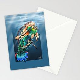 Mantis Shrimp Mermaid Stationery Cards