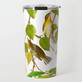 Autumnal Warbler James Audubon Vintage Scientific Illustration American Birds Travel Mug