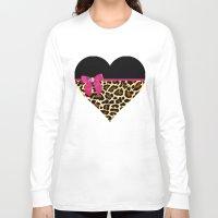leopard Long Sleeve T-shirts featuring LeoPard  by KIARASH KHALILI