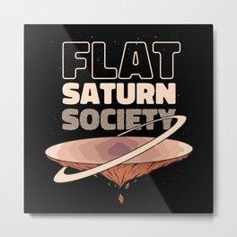 FLAT SATURN SOCIETY Metal Print