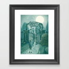 The Night Gardener - Grimloch Park Framed Art Print