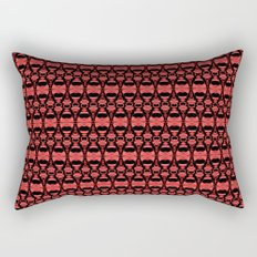 Dividers 02 in Red over Black Rectangular Pillow
