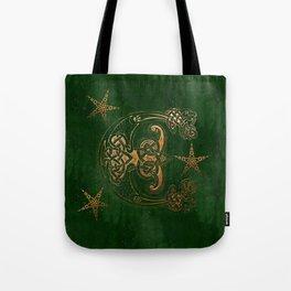 Hunter and Gold Celtic Tote Bag