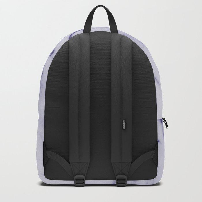 Deep Blue Streaked Marble Backpack