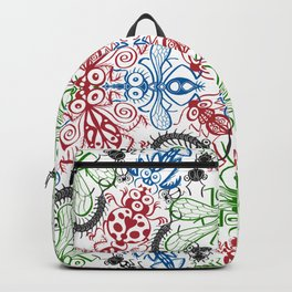 Funny bugs going for a beautiful choreography pattern design Backpack