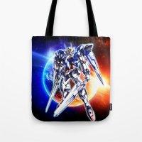 gundam Tote Bags featuring Gundam Wing by bimorecreative