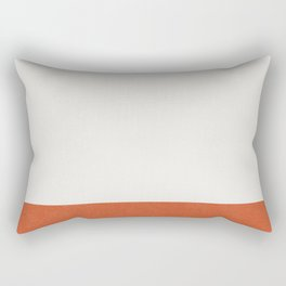 Burnt Orange Color Block Rectangular Pillow