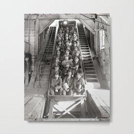Michigan Copper Miners, 1906. Vintage Photo Metal Print