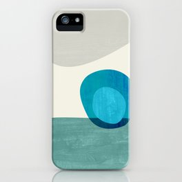 Stacking Pebbles Blue iPhone Case