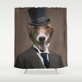 Happy Benny Shower Curtain