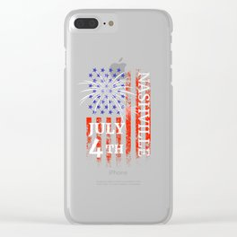 Nashville TN 4th of July Independence Day Clear iPhone Case